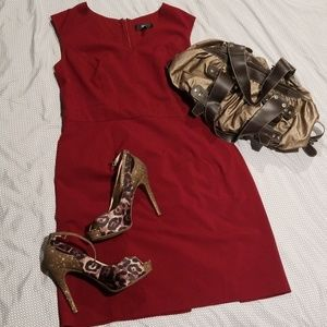 Mossimo Stretch Maroon Dress